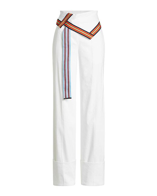 Diane von Furstenberg | Multicolor High-waisted Pants With Linen | Lyst