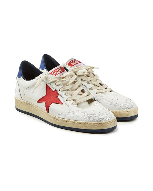 351cef29d4cb2 Golden Goose Deluxe Brand - Multicolor Ball Star Leather Sneakers for Men -  Lyst ...