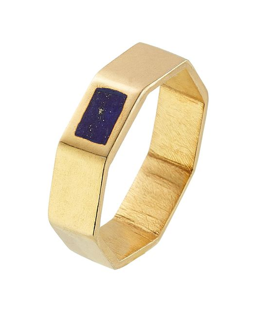 Pippa Small - Metallic Gold Plated Silver Ring With Lapis - Lyst