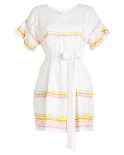 Lisa Marie Fernandez - White Fiesta Ric Rac Linen Dress - Lyst