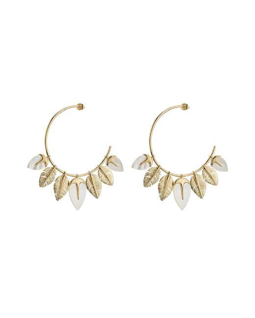 Aurelie Bidermann - Metallic Creolen Talitha 18kt Gold Plated Earrings - Lyst