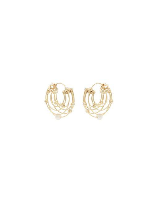 Ellery - Metallic Classical Scaffolding Hoop Earrings - Lyst