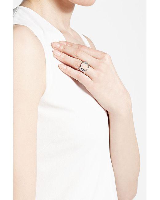 Delfina Delettrez   18kt White Gold Ring With Marquise Aquamarine   Lyst