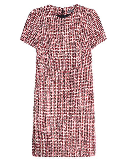 Alexander McQueen - Multicolor Tweed Dress With Cotton And Virgin Wool - Lyst