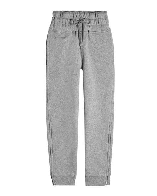 Adidas By Stella McCartney - Gray Essentials Sweatpants With Organic Cotton - Lyst