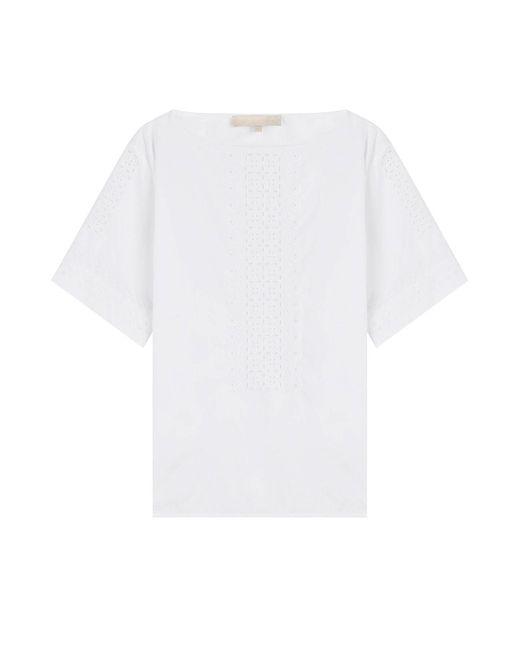 Vanessa Bruno - White Embroidered Cotton Top - Lyst