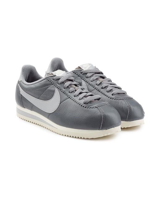 Nike - Gray Classic Cortez Leather Sneakers - Lyst