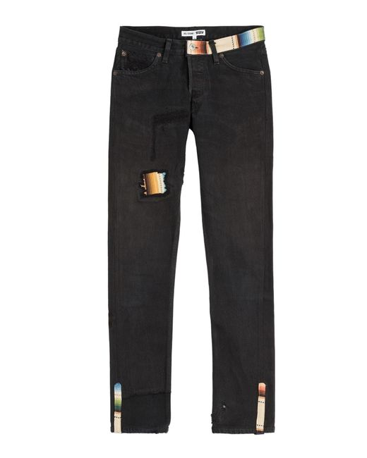 Re/done - Black Straight Skinny Jeans - Lyst