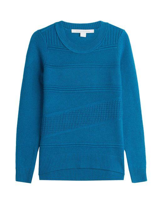 Diane von Furstenberg - Blue Wool Pullover With Cashmere - Lyst