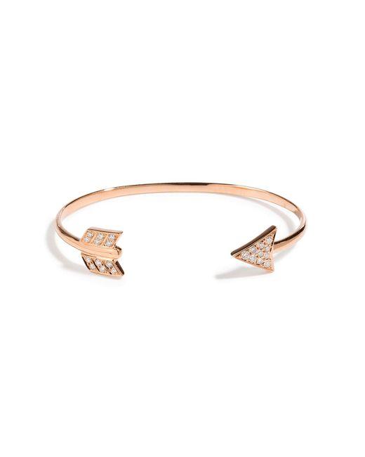 Anita Ko | Metallic 18kt Rose Gold Arrow Cuff With Diamonds | Lyst