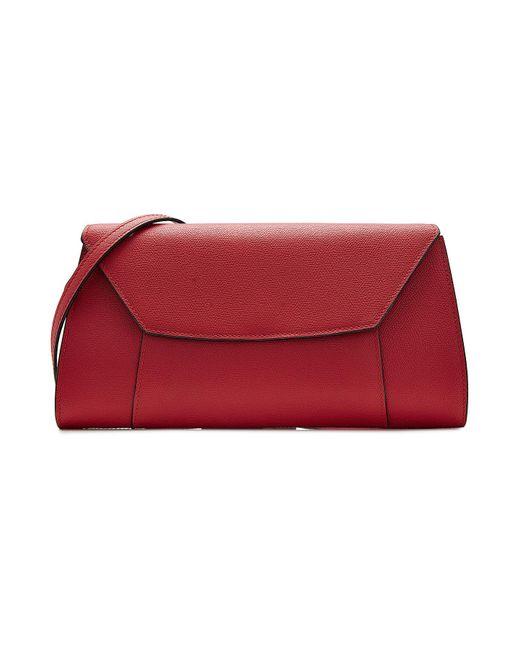 Valextra - Red La Scala Leather Clutch - Lyst