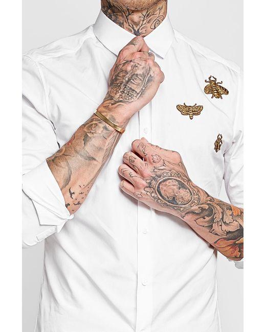 Maison Margiela   Metallic Gold-plated Silver Cuff for Men   Lyst