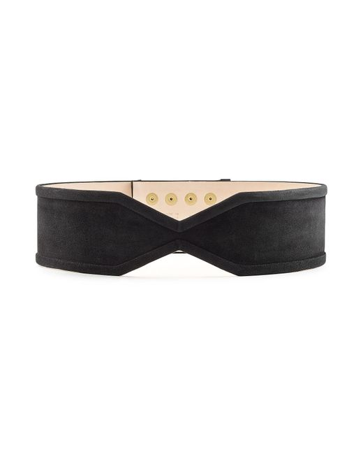 Balmain - Multicolor Suede Belt With Embossed Buttons - Lyst