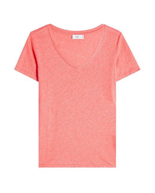 Closed - Pink Linen T-shirt - Lyst