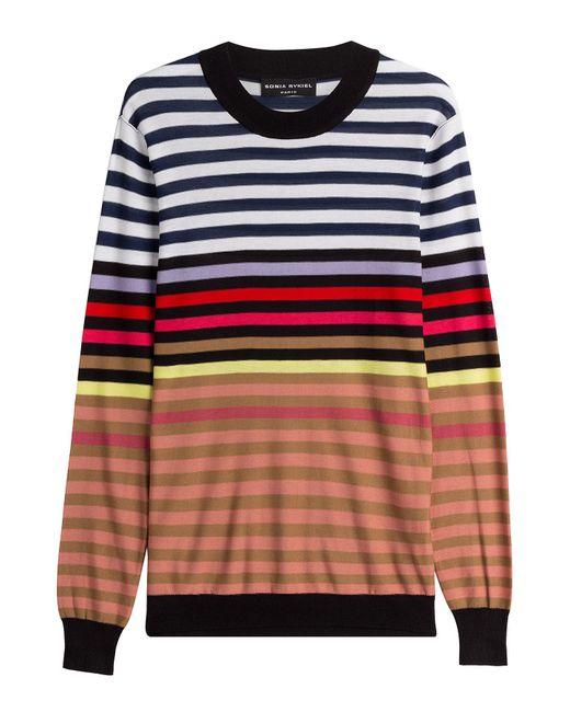 Sonia Rykiel - Multicolor Silk-cotton Striped Pullover - Lyst