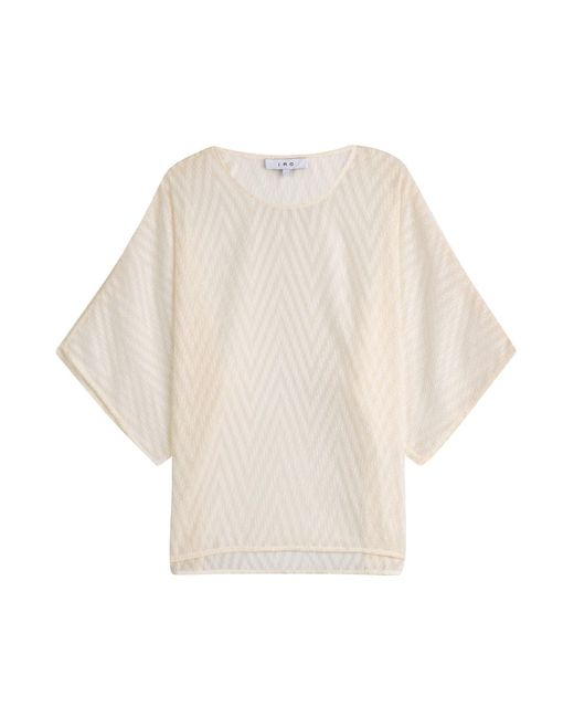 IRO | White Top With Raised Texture | Lyst