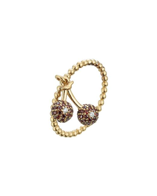 Marc Jacobs | Metallic Embellished Sterling Silver Cherry Ring | Lyst