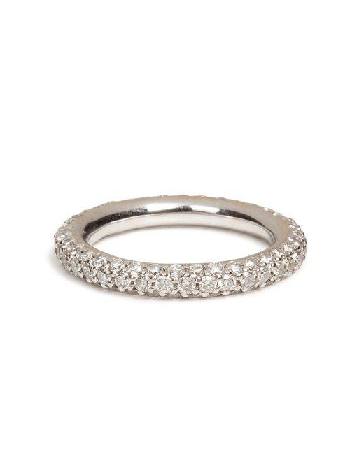 Carolina Bucci - 18k White Gold 1885 Chunky Ring With Pave Diamonds - Lyst