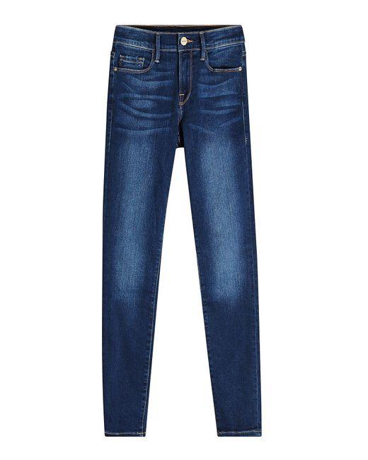 FRAME - Blue Le Skinny De Jeanne Cropped Skinny Jeans - Lyst