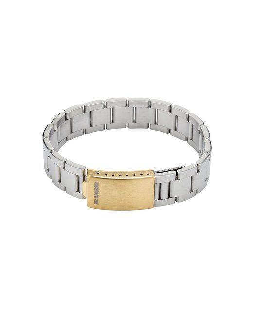 Jil Sander - Metallic Metal Bracelet for Men - Lyst