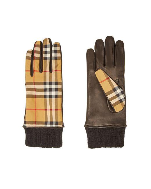 Burberry - Multicolor Bedruckte Handschuhe mit Lammleder for Men - Lyst