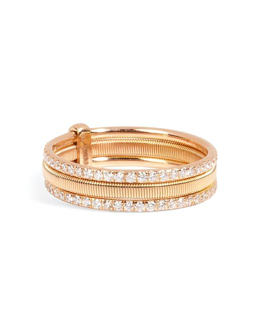 Ileana Makri | 18kt Pink Gold Triple Bond Band With White Diamonds | Lyst