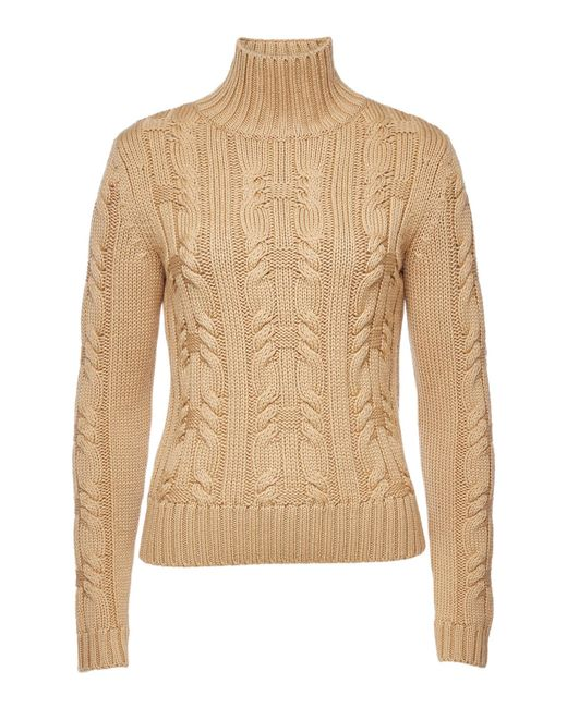 HUGO - Natural Salini Virgin Wool Turtleneck Pullover - Lyst
