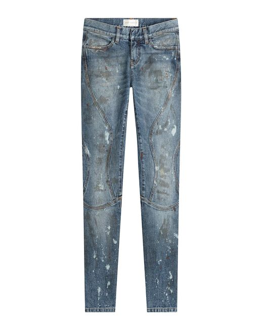 Faith Connexion | Blue Cropped And Distressed Skinny Jeans | Lyst