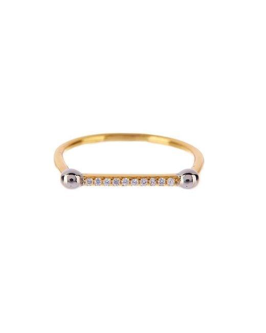 Luv Aj | Metallic Single Barbell Ring In Gold | Lyst