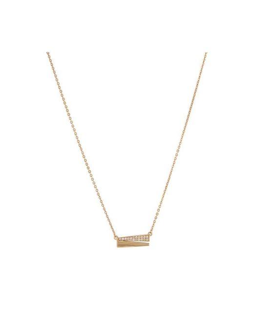 Melinda Maria   Metallic Isabella Pave Necklace   Lyst