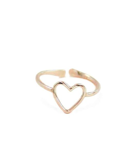 Kris Nations | Metallic Heart 14K Gold Ring | Lyst