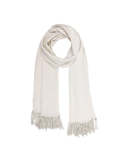 Donni Charm | Natural Poodle Scarf In Cream | Lyst