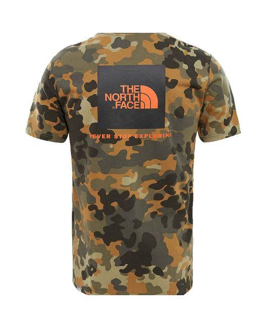 02fbf33f The North Face - Green Red Box T-shirt Macrofleck Camo Print for Men ...