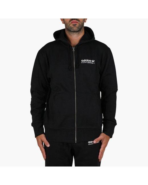 Adidas Originals - Black Kaval Fz Hoodie for Men - Lyst