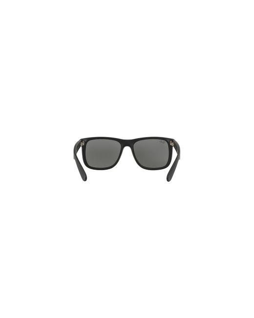 78d81e115a4 hot ray ban black justin rb4165 rectangle sunglasses 70372 ef920