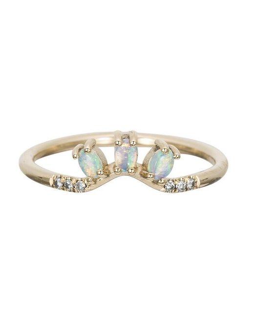 Jennie Kwon | Multicolor Diamond Opal Trio Equilibrium Ring | Lyst