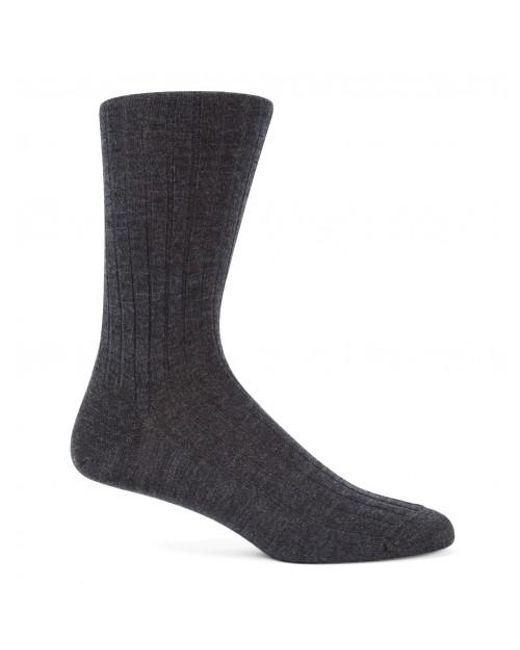 Sunspel - Black Men's Merino Cotton Socks In Charcoal Melange for Men - Lyst