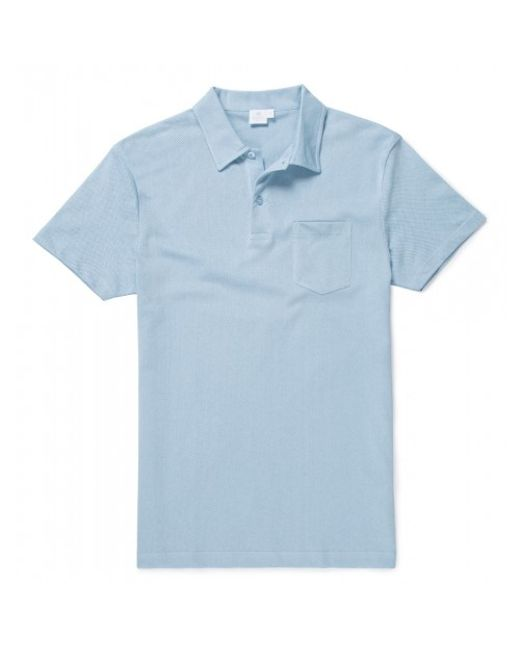 Sunspel   Blue Men's Cotton Riviera Polo Shirt In Sky for Men   Lyst
