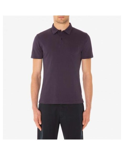 5a8096e61 ... Lyst Sunspel - Purple Men s Cotton Riviera Polo Shirt In Blackberry for  Men ...