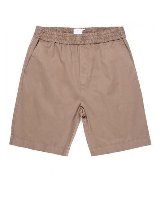 7f8332ca79 Sunspel - Multicolor Men's Cotton Twill Drawstring Shorts In Dark Stone for  Men - Lyst ...
