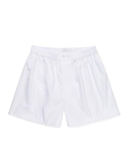 Sunspel Men's Sea Island Cotton Poplin Original British Boxer Short In White for men