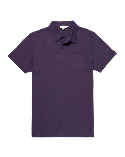 53d840757 Sunspel - Purple Men s Cotton Riviera Polo Shirt In Blackberry for Men -  Lyst ...