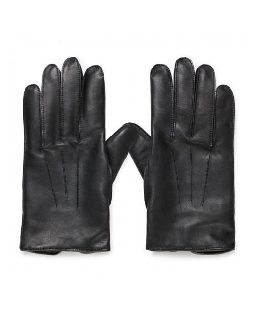 3dceb8f14e6b Sunspel - Men s X Dents Leather Glove With Cashmere Lining In Black for Men  ...