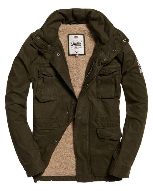 Superdry Rookie Heavy Weather Field Jacket In Green For