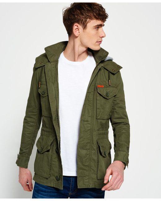 Superdry Rookie Service Parka Jacket In Green For Men Lyst