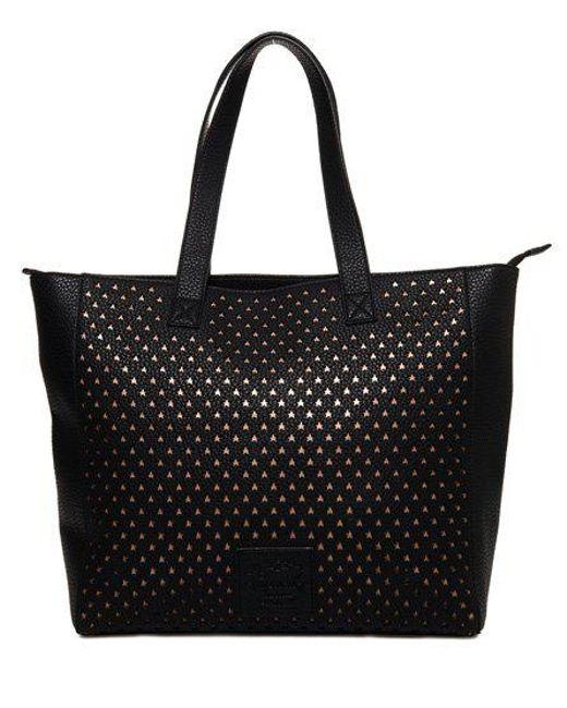 Superdry - Black Elaina Star Perforated Tote Bag - Lyst