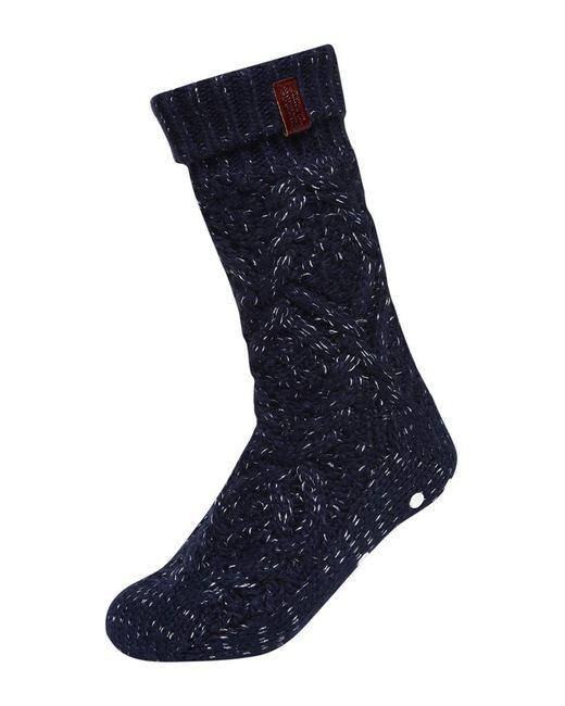 Superdry Nebraska Cable Slipper Socks In Blue   Lyst