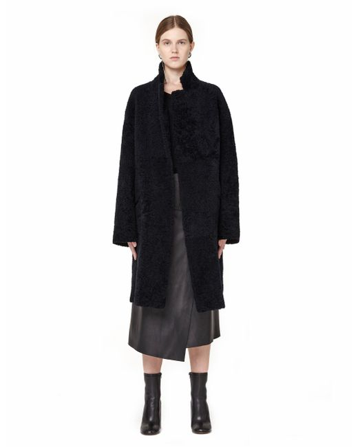 32 Paradis Sprung Freres | Black Double-faced Shearling Coat | Lyst
