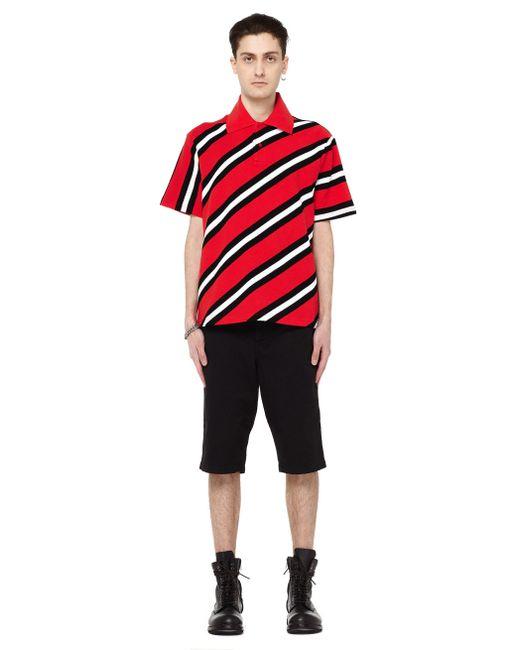 Balenciaga Striped Polo Shirt Men Cotton Xs In Red