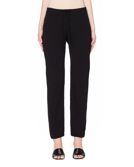James Perse - Black Supima Cotton-terry Track Pants - Lyst